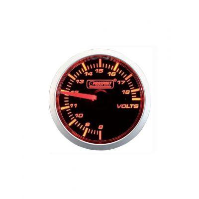 Manomètre Prosport Voltmètre Diamètre 52mm 8 à 18 Volts